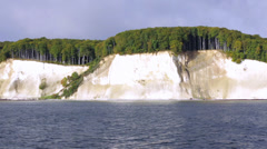 Ride Along Famous White Chalk Cliffs Of Rügen Island From The Se - stock footage