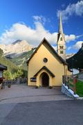 Alba di Canazei - small church - stock photo