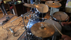 Indie Rock band practice Stock Footage