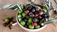 Stock Video Footage of olive and olive oil