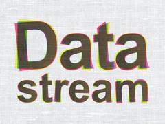 Information concept: Data Stream on fabric texture background Stock Illustration