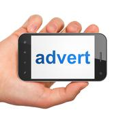 Advertising concept: Advert on smartphone Stock Illustration