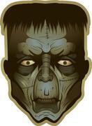 monster face - stock illustration