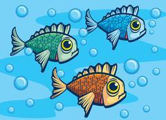 fish underwater - stock illustration