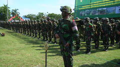 Indonesian Army 17 Stock Footage