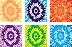 Tie-dye pattern Stock Illustration