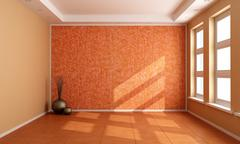 Orange empty room Stock Illustration
