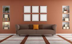 modern sofa in a elegant interio - stock illustration