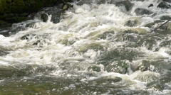 Detail Of Weir, locked down, with sound - stock footage