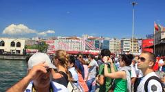 Istanbul People at Kadikoy Coast Stock Footage