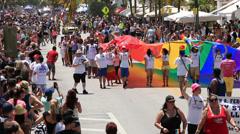 Miami Beach Gay Pride Parade 5 Stock Footage
