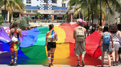 Miami Beach Gay Pride Parade 7 - stock footage