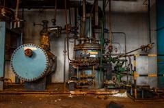 Industrial interior with storage tank Stock Photos