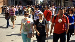 An ordinary day of Istiklal Street in an extraordinary city Stock Footage