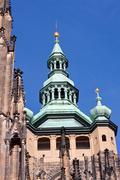 Cathedral cupola in Prague Stock Photos