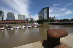buenos aires puerto madero - stock photo
