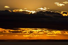 sunset patagonia - stock photo