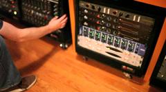 Recording engineer in studio or lab Stock Footage