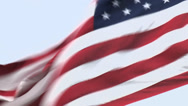 Stock Video Footage of STARS AND STRIPES tight shot