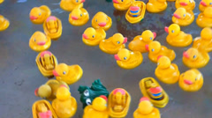 Carnival Rubber Duckies and Frogs Stock Footage