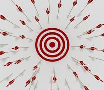 Target miss  Stock Illustration