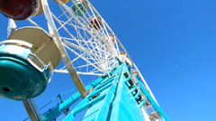 Looking Up Candy Color Ferris Wheel Stock Footage