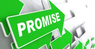 Stock Illustration of Promise Word on Green Arrow.