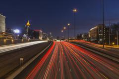 Atlanta night Stock Photos