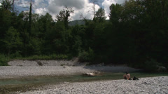 River clean water Stock Footage