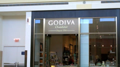 Godiva Chocolates storefront mall Stock Footage