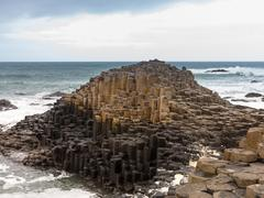 Unusual geology at giants causeway ireland Stock Photos