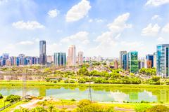 View of sao paulo and the river, brazil Stock Photos