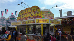 Carnival food and drink stand Stock Footage