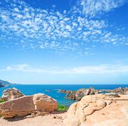 costa paradiso clouds - stock photo