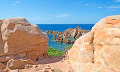 costa paradiso rocks - stock photo