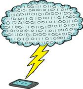 Digital device and lightening Stock Illustration