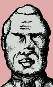 serious senior man - stock illustration