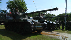 Indonesian Army Tanks Stock Footage