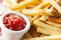fresh crispy french fries - stock photo
