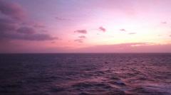 Irish sea purple sunset.mp4 Stock Footage