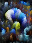 Digital Bloom Composition - stock illustration