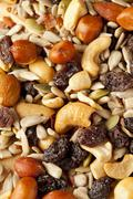 all natural homemade trail mix - stock photo