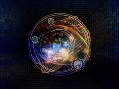 Visualization of Digital Processing - stock illustration