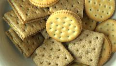 Crackers, Crisps, Snacks, Food Stock Footage