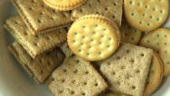 Stock Video Footage of Crackers, Crisps, Snacks, Food
