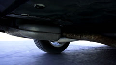 Car Suspension, Wheels, Struts, Auto Parts - stock footage