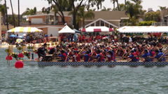 Dragon Boat Races Stock Footage
