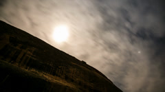 Moon over canyon wall timelapse Stock Footage