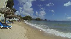 Beach in Samana, Dominican Republic Stock Footage