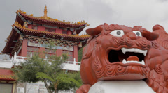 close up of statue at wen wu temple - stock footage